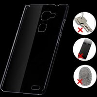 mobile phone crystal hard case - 60pcs Via DHL Transparent Clear Crystal Capa Para For Huawei Ascend Mate Mobile Phone Hard Back Cover Case For Mate
