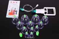 Wholesale 1 Set Cups Magnetic Needle Extension Tube Pump Chinese Modern Vacuum Healthy Cupping Set Massage Therapy Suction Apparatus