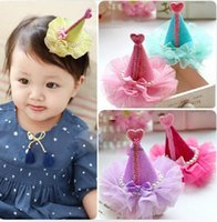 Wholesale Cute Hat Cap Hair Bows clips Hairpins Colors Mix up Birthday party Childrens girls Hair Accessories