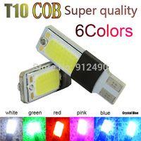 alfa autos - 2X T10 LED W5W COB Interior Bulb Light Parking Backup Brake Lamps Canbus No Error Cars xenon Auto Led Car Color