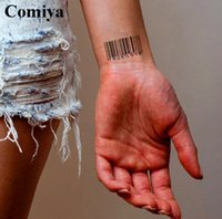 bar code products - New Custom QR code bar code temporary tattoo sex products Modern body art waterproof wrist stickers Summer fake barcode tattoos