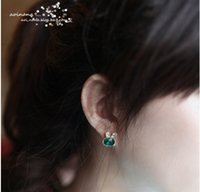 Wholesale 12 pair Fashion earrings ornaments stud earrings for women the quot hare quot eardrop ear cuff DIY jewelry