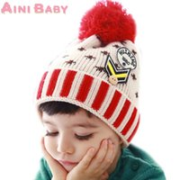 baby armband - Spot Armband Solid Ball Knitting Wool Lovely Kids Beanies Infant Toddler Girl Cap Warm Winter Girl Hat Children Accessories Baby