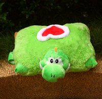 Cheap New Super Mario Brothers Pillow Yoshi Plush Dolls Mario Bros Figures Stuffed Animals Mario Brothers Toys SM021