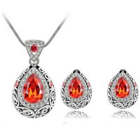 Wholesale 2014 new design crystal stone jewelry set for women