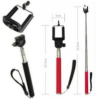 Wholesale Selfie Sticks Monopod Bluetooth Shutter Extendable Handheld Wireless Remote Camara Stick Z07 Monopods For iPhone All Mobile Phone