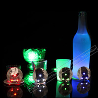 bar items - 2016 LED Flash Drinking Items Cocktail Bar Used LED Cup Coaster mini LED Cup Mat Christmas Gift Y
