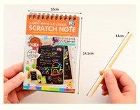Wholesale 5pcs set Magic paper Korea stationery scratch graffiti this fun DIY homemade gifts coat magic of the Scratch Pad