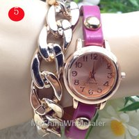 Wholesale Hot Sale New Women Vine Leather Strap Watches Bracelet Dress Watch Fashion Ladies Wristwatch Cheap Watches