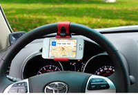 automobile gps - Portable Elastic Automobiles Steering Wheel Car Phone Holder for iPhone S S C Smartphone GPS MP4 PDA