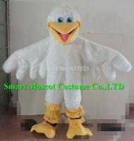 beautiful mascot costumes - Beautiful adult white fur duck mascot costume