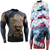 baseballs clothings - Elephant Mens Skin Tight Compression Shirts Fitness Exercise Base Layers Tights Baseball Softball Running Gym Crossfit Shirt Clothings SJ008