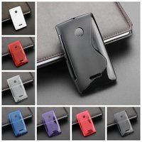 Wholesale Good quality S line rubber soft tpu back cover Case For Microsoft for Nokia Lumia MIX Model Colors Mix colors