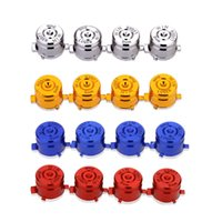 Wholesale 9mm Red Silver Blue Yellow Metal Thumbstick Cap and Bullet Button for Playstation PS4 Controller Gamepad Replacement