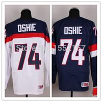 authentic olympic hockey jerseys - TJ Oshie Jersey cheap Authentic Olympic USA team Hockey Jerseys Stitched Logo winter classic jersey Size M XXXL