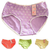Wholesale Lowest Price Cotton Underwear Women Girls Panties Lovely Bowknot Floral Cute Briefs Breathable Comfortable Underpants XF0007 salebags