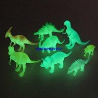 Wholesale 8pcs set Night Light Noctilucent Dinosaur Figures figurine Toys dinosaur model set Kid Children Christmas party gift