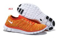 air force money - female money air force orange white color flat breathable leisure sports shoes running shoes