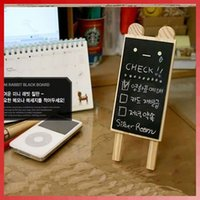 Wholesale Cute Wooden Bear Mini Blackboard Message Memo Note Board Set retail