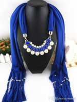 pendant scarf - Tassels pendants Scarf Shawl Pearl polyester woman New fashion printing180 cm DHL fast shipping