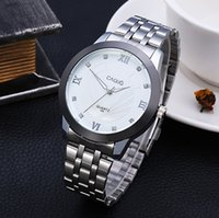 Wholesale High quality simple style steel silver band strap wristwatch mens women quartz movement watches