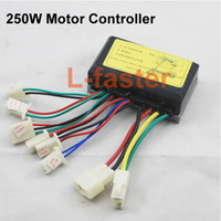 Wholesale 24V W Electric E Scooter Bike Parts Motor Controller Speed Controller for scooter mini bike W Brushed Motor Controller