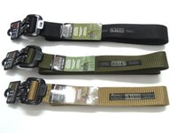 Wholesale 2015 newest arrival Outdoor men nylon belts sails tactical belt High grade alloy agio M L XL M cm L120CM XL cm