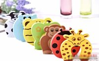 Wholesale Infant Baby Cartoon Safe Animal Colorful Door Stop Finger Pinch Guard Style Safety Gates Accessories ZH16 D01