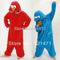 adult elmo costume - Adult Sesame Street Red Blue Elmo onesie Costume romper pajamas pyjamas cosplay S M L XL