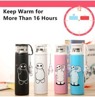 Wholesale 4 Color Big Hero Stainless Steel Handgrip Thermos Mug Garrafa Termica Belly Cup Termos Vacuum Flasks Cup for Office Water Bottle