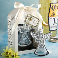 angels giveaway - stainless steel angel wedding bottle opener favors party giveaway souvenirs HT3