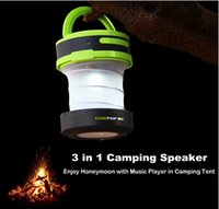 Wholesale GoldHorse Ultra Portable Camping Wireless Bluetooth Speaker with LED Lantern Flashlight Build in with Microphone and Loud Bass