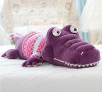 Wholesale Alligator crocodile plush toy throw pillow cushion stuffed toy
