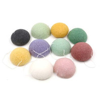 bath jellies - Mixed color Colorful Natural Konjac Cleaner Fiber Beauty Makeup Jelly Bath Facial Wash Cleaning Sponge Puff By DHL