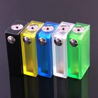 box light - Best ABS V2 Box Mod Acrylic Clear Color Box Mechanical mods Colorful Light Vapor ABS V2 E Cigarettes mod VS Dimitri Box Clouper Mod DHL Free