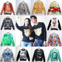 Cheap HOT 2014 New fashion Women Men Hoodies paris skull Animal Leopard tiger print 3D Pullover Sweatshirts Galaxy sweat suit Tops