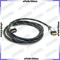 Wholesale Premium Fiber M FT High Speed HDMI Male to Male V1 Wire Cable For Ultra HD K D Video PS3