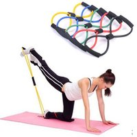 Wholesale Fashion Body Fitness Equipment Tools Rope Resistance Training Bands Pull Rope Tube Workout Exercise for Yoga Type