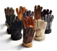 Wholesale Retail Men s imitation fur Gloves man s thick warm winter Gloves Fleece Gloves Five Fingers Gloves