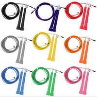 Wholesale Via Fedex M High Speed Skip Rope steel wire adjustable jump rope crossfit sport fitness equipment Colors