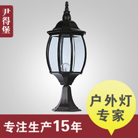 american glass works - Continental Iron villa wall lamp post lights American Academy of vintage glass door outdoor lights LED work lights new