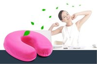 Wholesale 1 Piece Start Sale Memory Cotton Made Slow Rebounding U Style Neck Pillow Health Care for Travelling