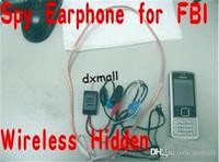 Wholesale 2016 Free DHL Wireless mini Hidden Earphones new mobile Phone spy Earpiece FBI earphones Mini Earphone