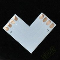electrical connector - 4pin LED Connector L Shape Corner For mm RGB LED Strip Light