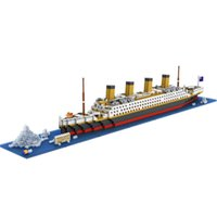 Wholesale LOZ RMS Titanic Ship D Building Blocks Toy Titanic Boat D Model Educational Gift Toy for Children WJ271