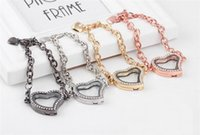 Cheap Hot Sale Crystal Heart Shaped Bangles Living Bridal Collection In Chain Magnetic Birthstones Glass Memory Locket Bracelet For Floating Charm