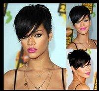 alternative wig - 2016 new Sexy Rihanna Hairstyles Short Straight Alternative wig