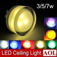 acryl colors - Energy Saving Ceiling Light W W W ceiling recessed mounted LED downlight with crystal design colors LED spot light lamp