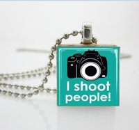 aa photography - Camera Jewelry I Shoot People Photography Necklace Scrabble Tile Pendant Scrabble Tiles For Jewelry AA