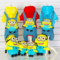 pet strap - The new despicable me straps pet clothes Pure cotton dog clothes mean I pet clothes Autumn and winter pet clothing five dimensions